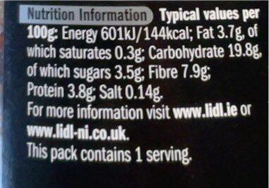 Red Quinoa & Barley Salad - Nutrition facts - en