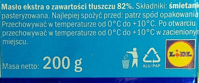 Masło ekstra - Składniki - pl