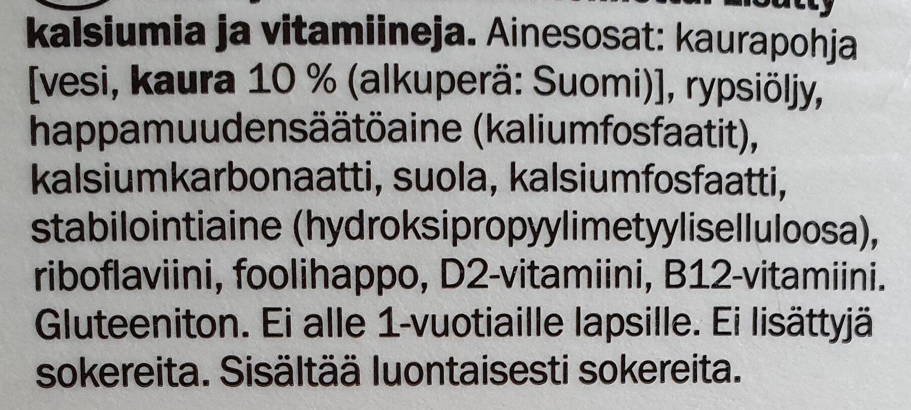 Oattis Kaurajuoma Kahviin - Ingredients - fi