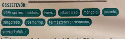 Sertés combsonka - Ingredients - hu