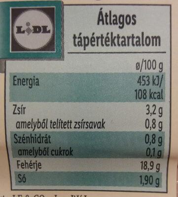 Sertés combsonka - Nutrition facts - hu