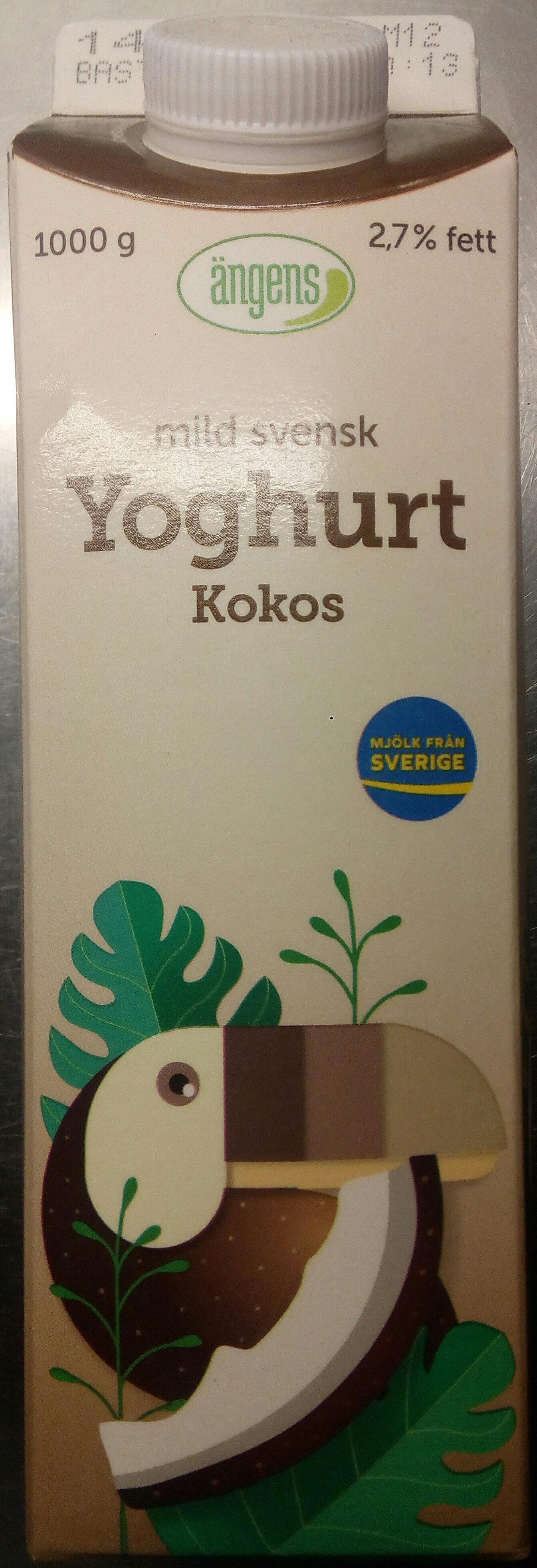 Ängens mild svensk Yoghurt Kokos - Produit - sv