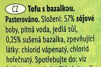 Tofu s bazalkou - Ingrédients - cs