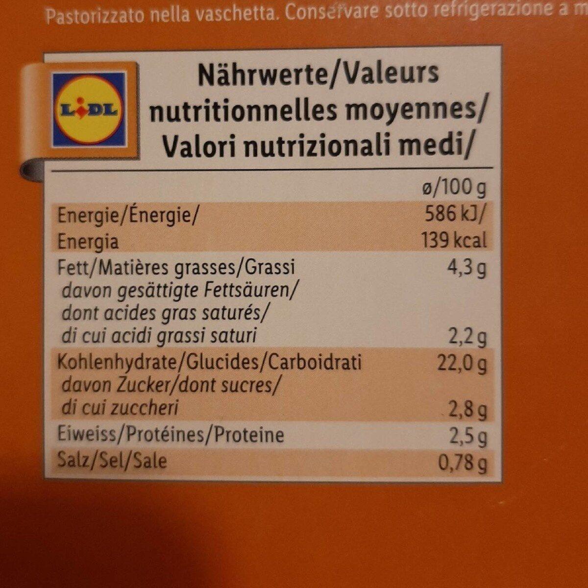 Chef select - Informazioni nutrizionali - fr