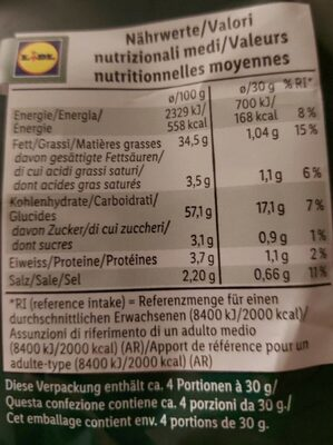 Snack sole - Informations nutritionnelles - fr