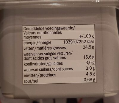 Goldessa classic - Nutrition facts
