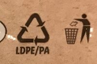 Bio mozzarella - Recycling instructions and/or packaging information - cs