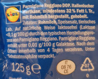 Parmigiano Reggiano - Ingredienti - de