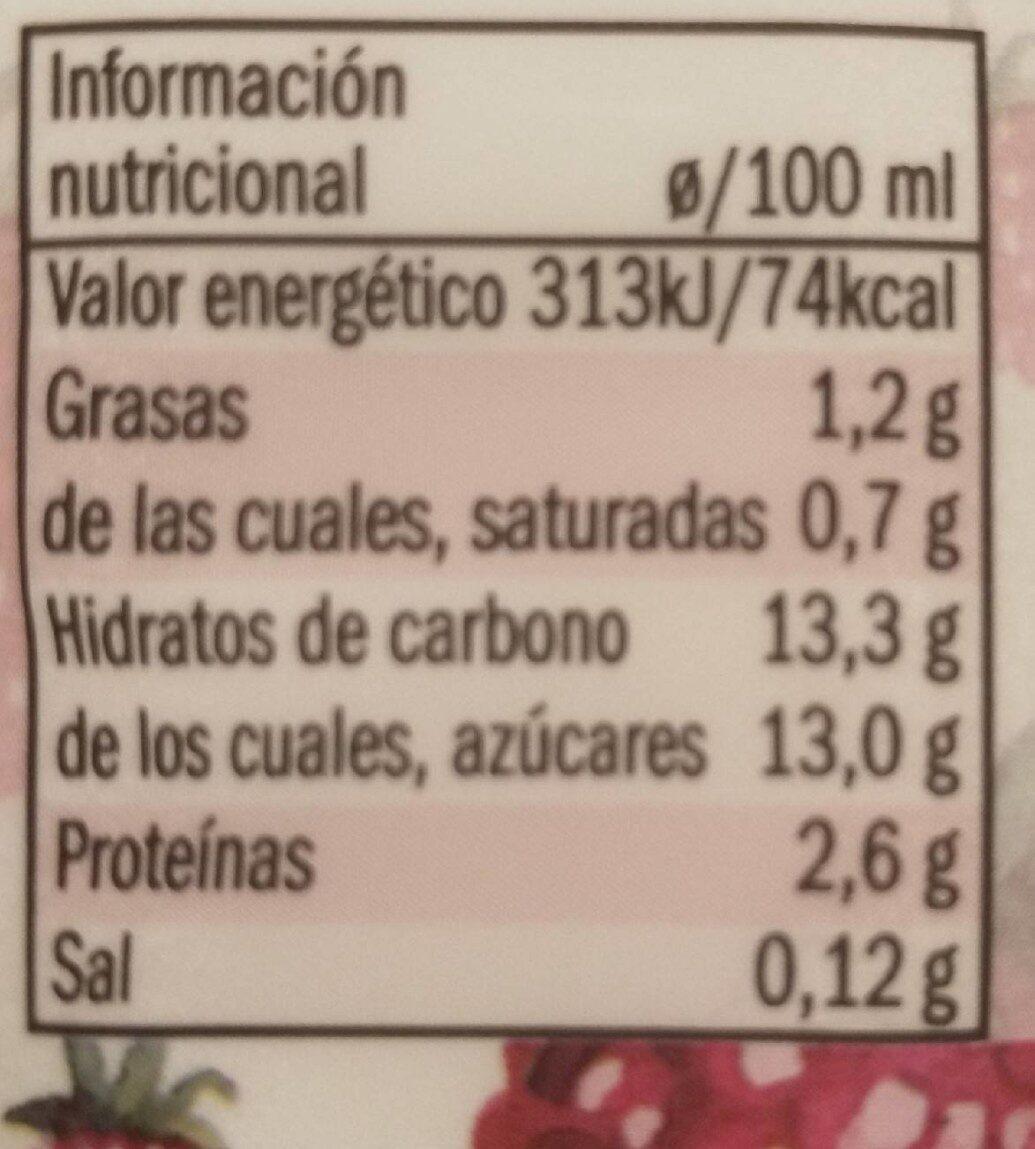 Yogur cremoso frutos del bosque - Informations nutritionnelles - es