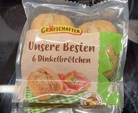 Unsere Besten 6 Dinkelbrötchen - Produit - de