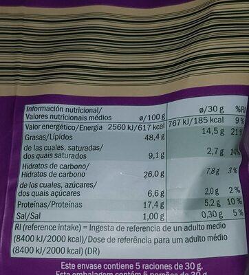 Noix de cajou - Nutrition facts - es