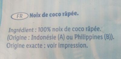 Noix de coco râpée Belbake - Ingrédients - fr