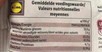 Preparation pour cookies - Informations nutritionnelles - fr