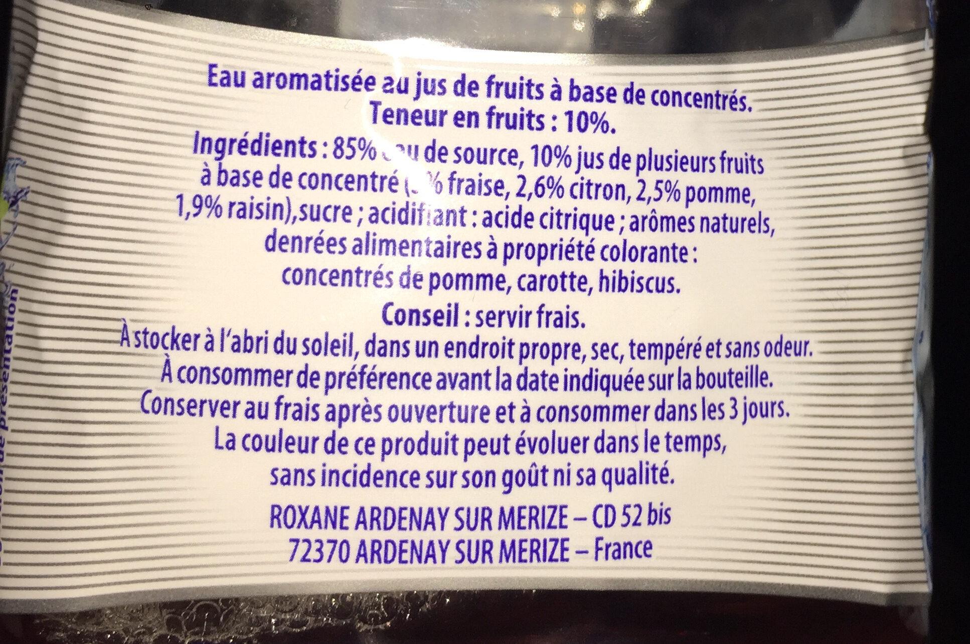 Water juice - Ingrediënten - fr
