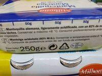 Mantequilla - Ingredientes