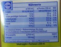 Fettarme Milch - Nutrition facts - de