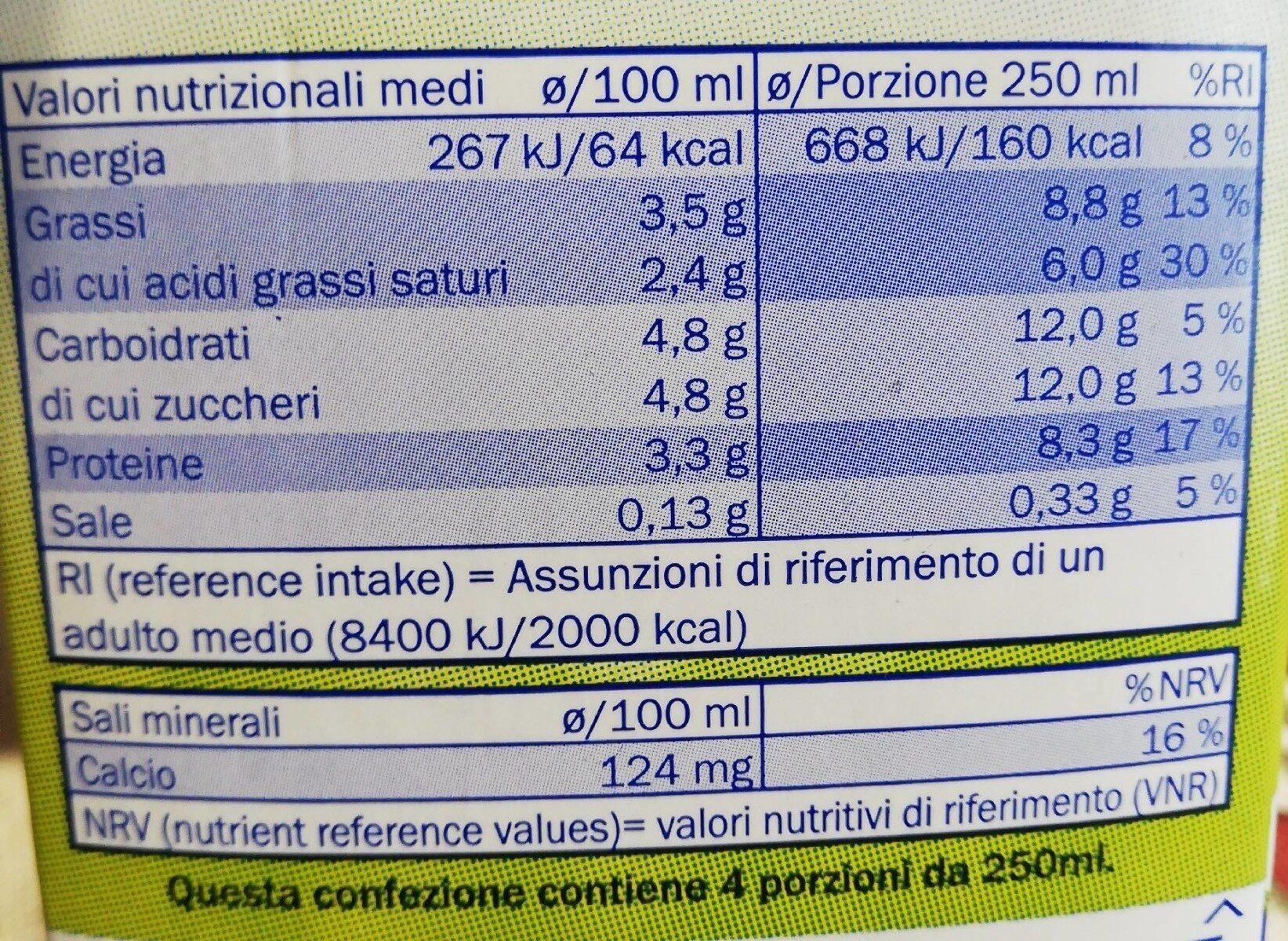 Latter intero - Informations nutritionnelles - en
