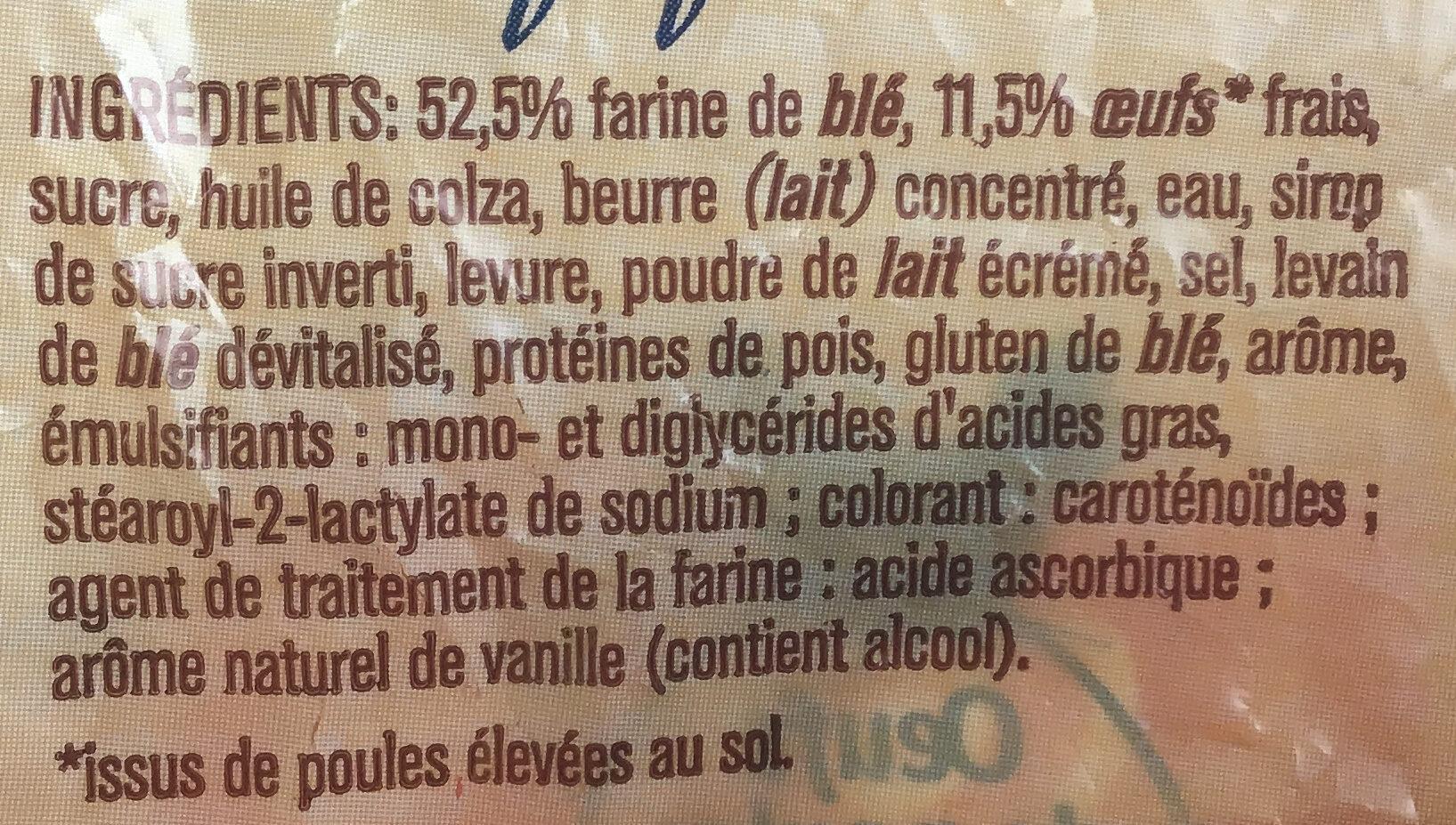 Pains au lait - Ingrédients - fr
