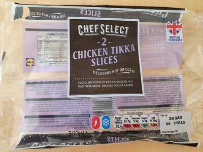 Chef Select 2 Chicken Tikka Slices - Produit - en