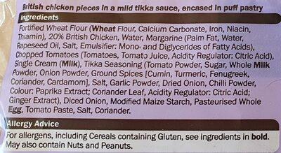 Chef Select 2 Chicken Tikka Slices - Ingrédients - en