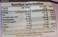 Chef Select 2 Chicken Tikka Slices - Informations nutritionnelles - en