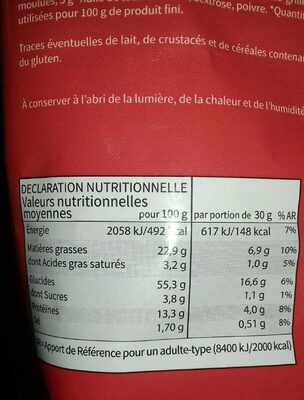 Flips cacahuètes - Informations nutritionnelles - fr