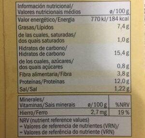 Escalope panado vegetariano - Información nutricional - es