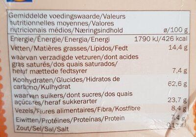 Crunchy Muesli Fruit - Nutrition facts