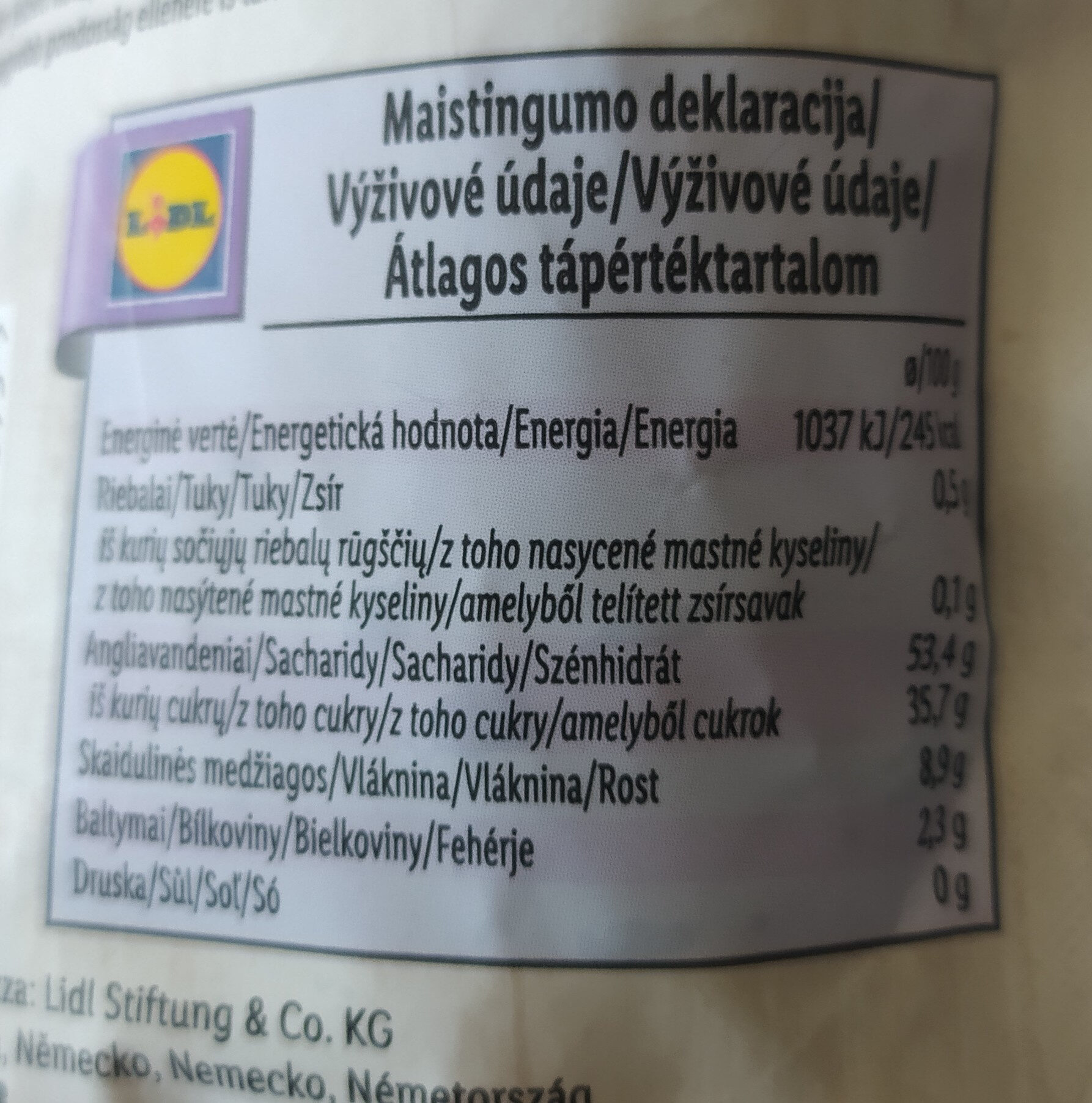 Dried Plums pitted - Nutrition facts - en