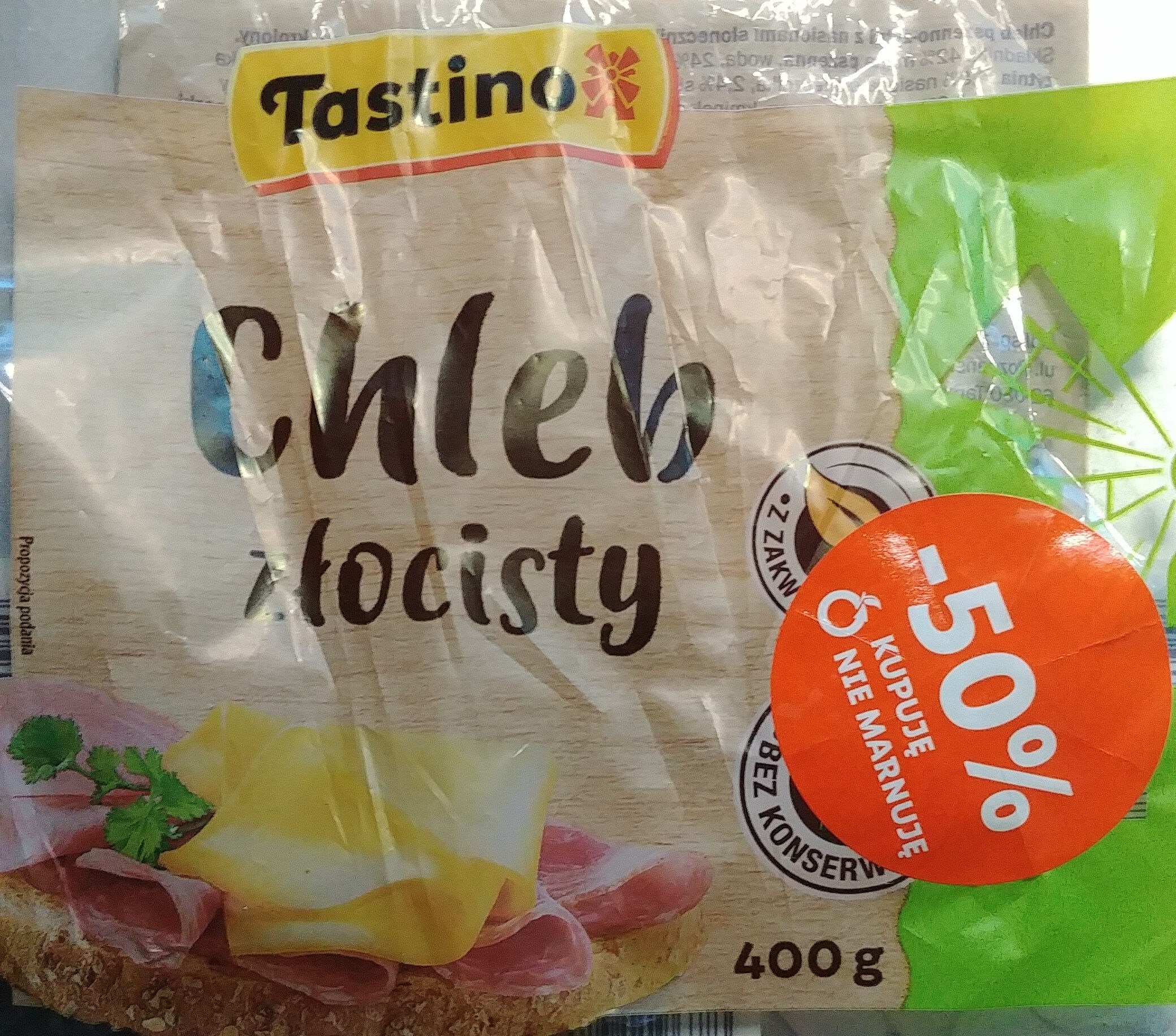 Chleb pszenno-żytni z nasionami słonecznika i sezamu oraz siemieniem lnianym. - Produit - pl