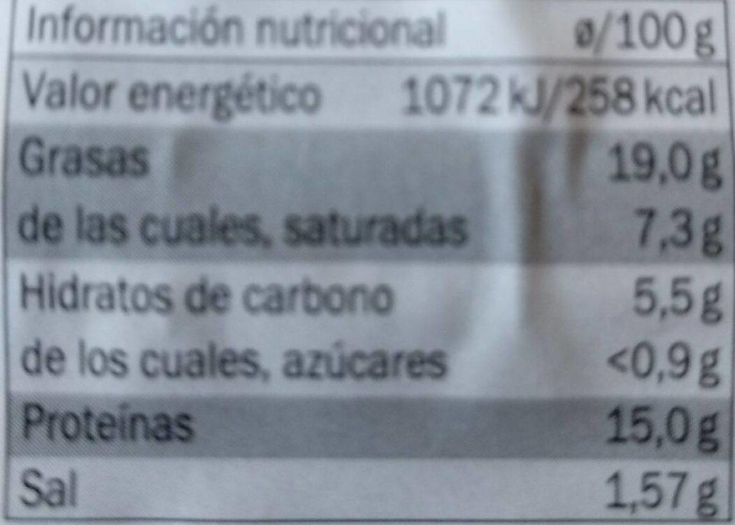Longaniza fresca sin tripa - Informations nutritionnelles - es