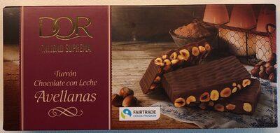Turrón chocolate con leche avellanas - Produit - es