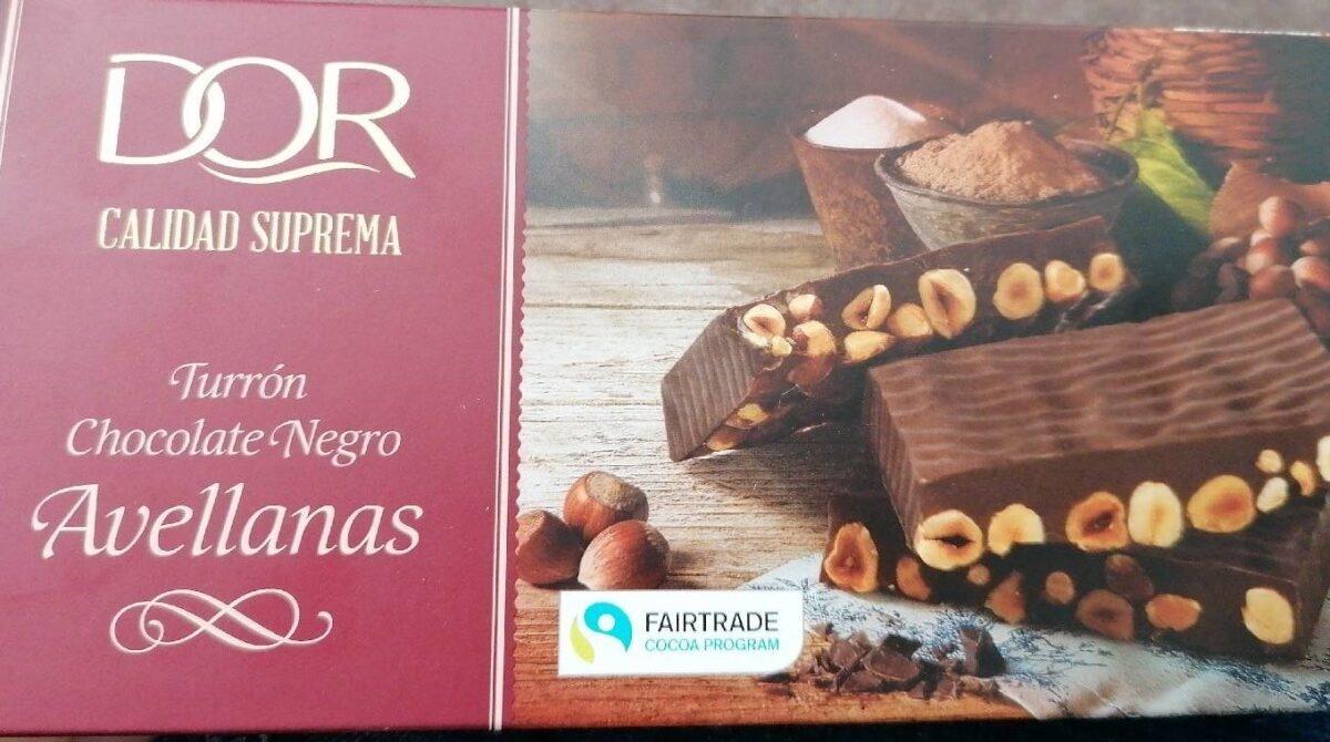 Turrón chocolate negro avellanas - Produit - es
