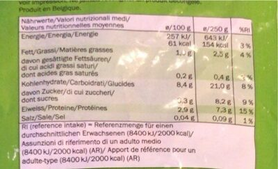 Mix di verdure - Nutrition facts - en