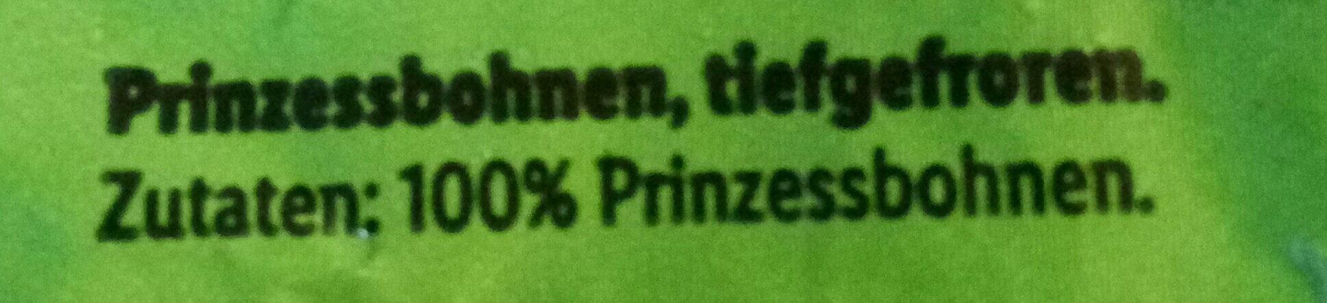 Prinzeasbohnen - Ingrédients - de