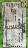 Prinzessbohnen erntefrisch tiefgefroren - Informations nutritionnelles - de