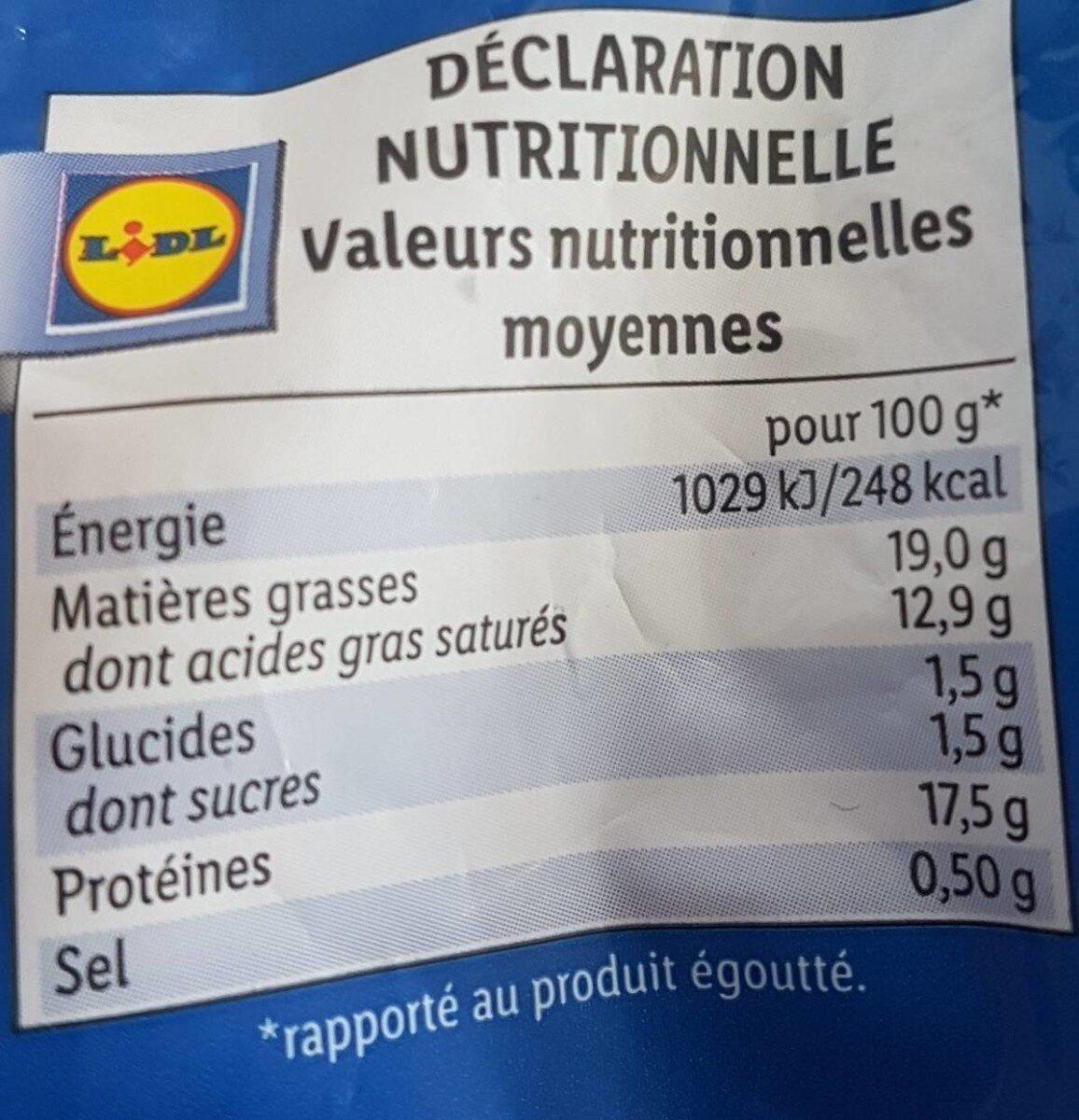 Produit - Informations nutritionnelles - fr