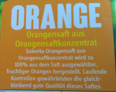 Orangensaft aus Orangensaftkonzentrat - Ingrediënten - de