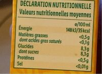 Boisson a l'orange - Nutrition facts - fr