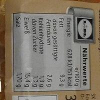 Hähnchen- Grillies classic - Nährwertangaben - de