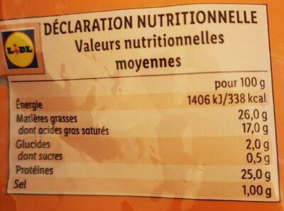 - Informations nutritionnelles - fr