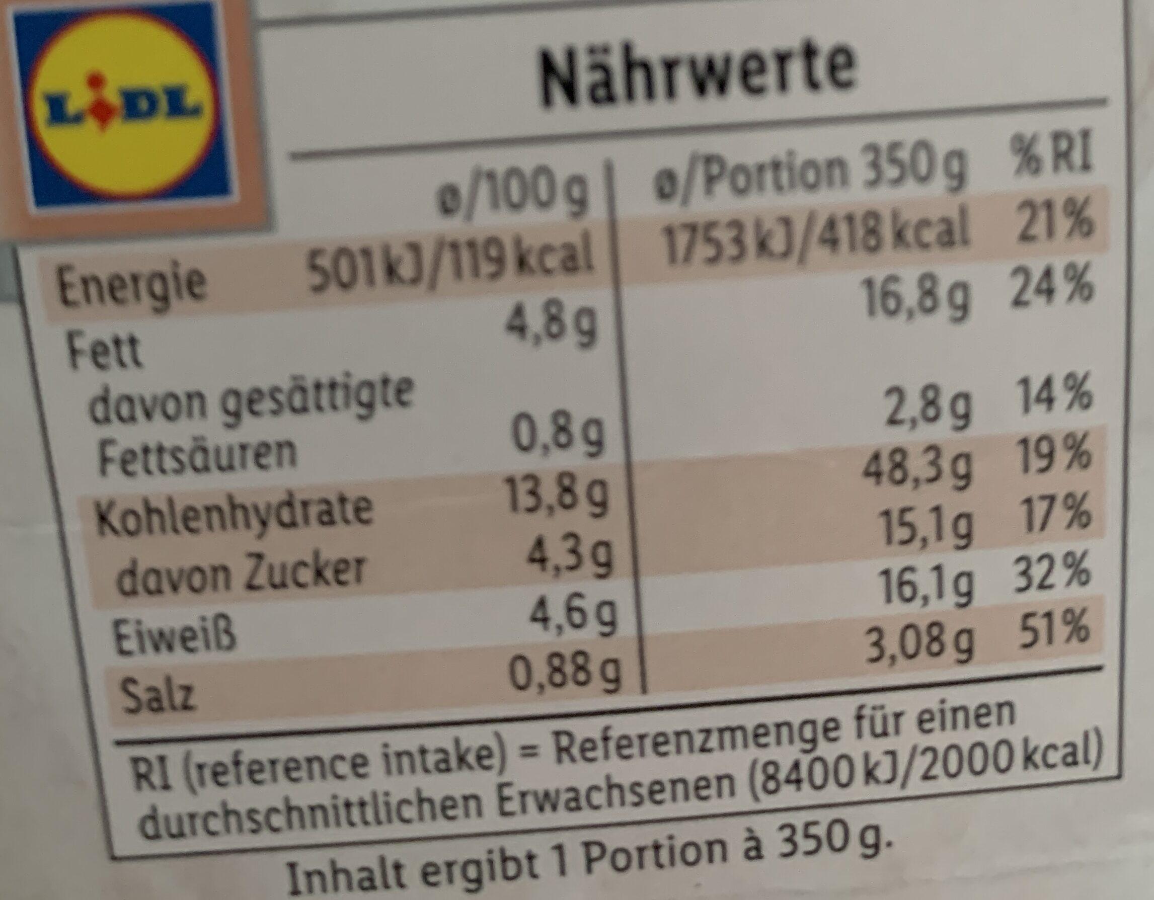 Select&Go Salat & Spätzle Schinken-Röstzwiebel - Voedingswaarden - de