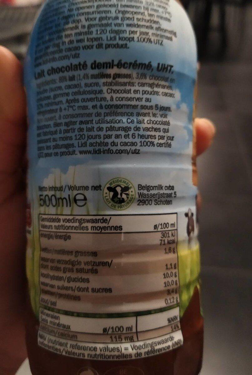 Lait chocolaté demi écrémé - Voedingswaarden - fr