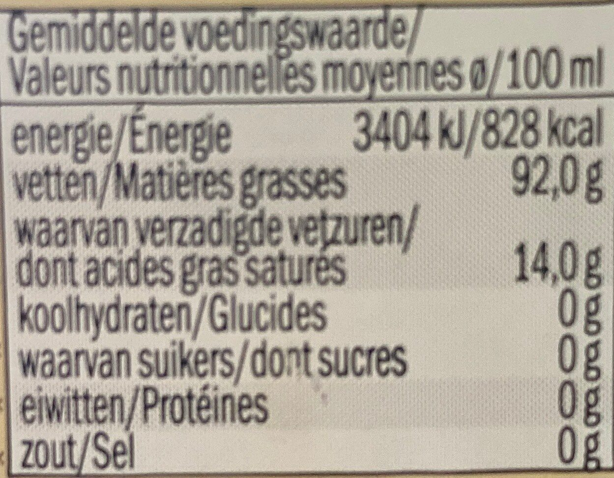 Huile d'olive extra vierge extra d'UE - Nutrition facts - fr