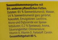 Margarina de girasol - Inhaltsstoffe