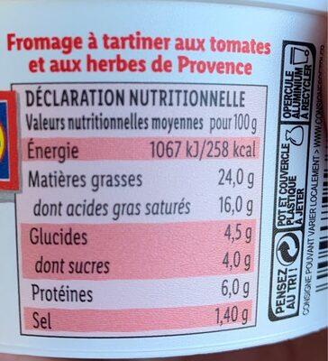 Tomate et herbes de provence - Informations nutritionnelles - fr
