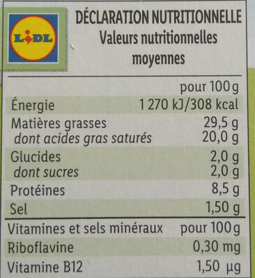 Les carrés crémeux - Valori nutrizionali - fr