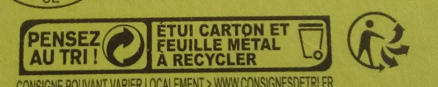 Les carrés crémeux - Istruzioni per il riciclaggio e/o informazioni sull'imballaggio - fr