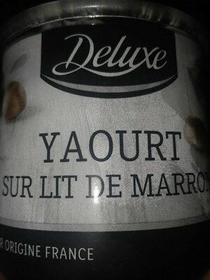 Yaourt sur lit de marron - Product