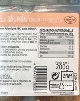 2 hachés au saumon - Nutrition facts